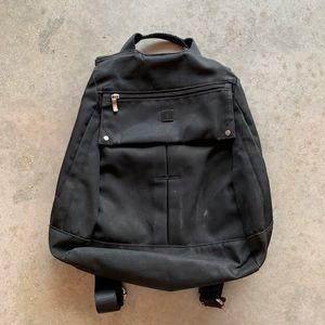 Uncle K Nylon Book Bag Backpack Black
